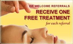 One free treatment for each referral