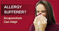 Acupuncture can help for allergies